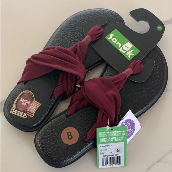 1a3d89a4c65 Sanuk Burgundy yoga sling 2 size 8